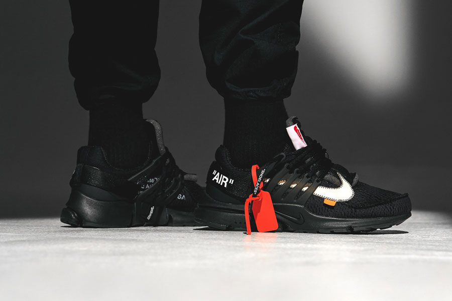 OFF-WHITE x Nike Air Presto Polar Opposites Black (AA3830-002) - On feet (Side)