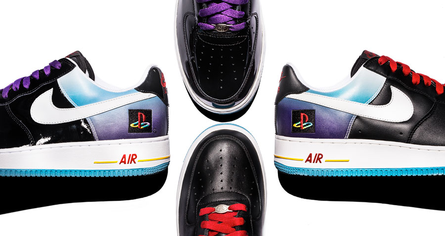 PlayStation x Nike Air Force 1 - Comparison (Heel Toebox)