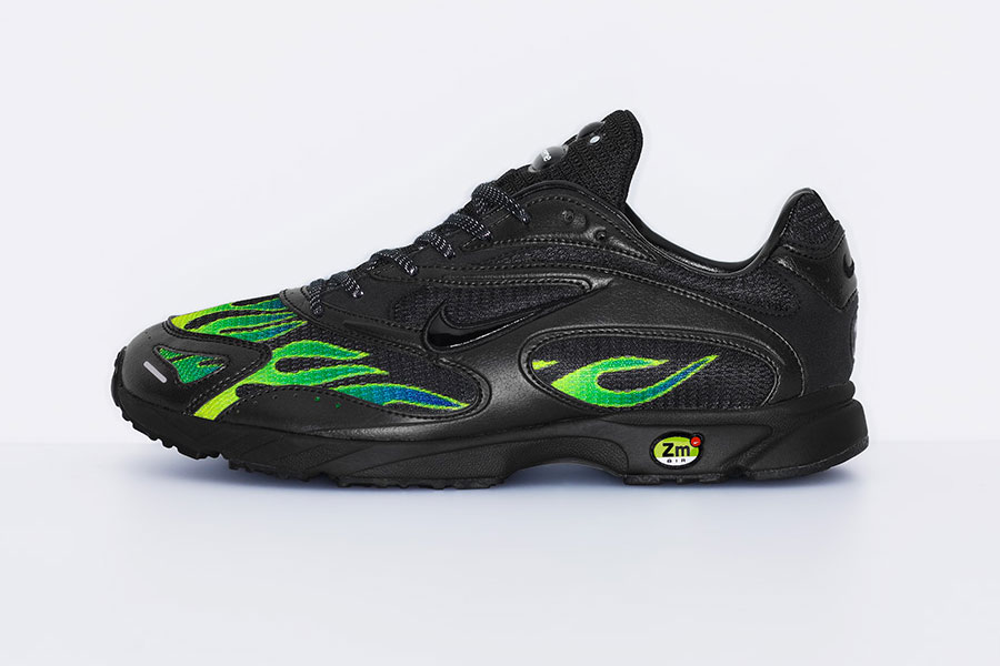 Supreme x Nike Air Streak Spectrum Plus - Black White Volt (AQ1279-001) - Side