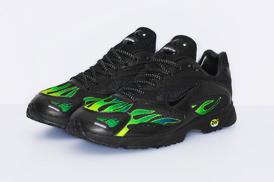 Supreme x Nike Air Streak Spectrum Plus - Black White Volt (AQ1279-001)