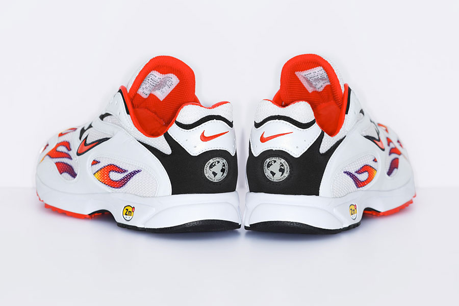 Supreme x Nike Air Streak Spectrum Plus - White Habanero Red Black (AQ1279-100) - Back