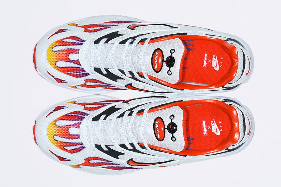 Supreme x Nike Air Streak Spectrum Plus - White Habanero Red Black (AQ1279-100) - Top