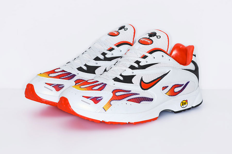 Supreme x Nike Air Streak Spectrum Plus - White Habanero Red Black (AQ1279-100)