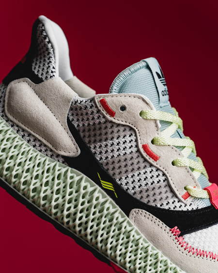 d2be9fbfa adidas ZX 4000 4D Futurecraft Running White Grey Two Linen Green (B42203) -  Mood