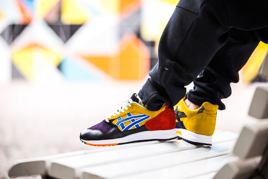 Afew x ASICS GEL-Saga What The GEL-Saga - On feet (Left)