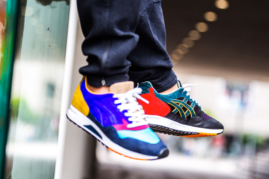 Afew x ASICS GEL-Saga What The GEL-Saga - On feet (Right)
