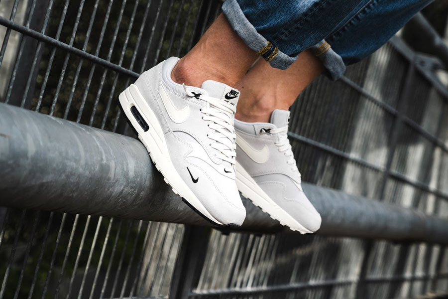 Nike Air Max 1 Premium Mini Swoosh (875844 006) - On feet (Side)