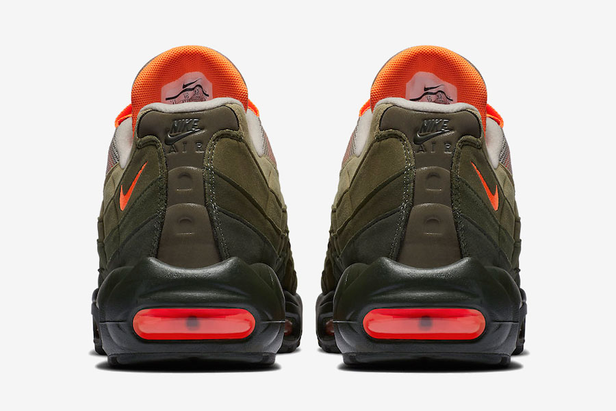 Nike Air Max 95 Neutral Olive Total Orange (AT2865-200) - Back