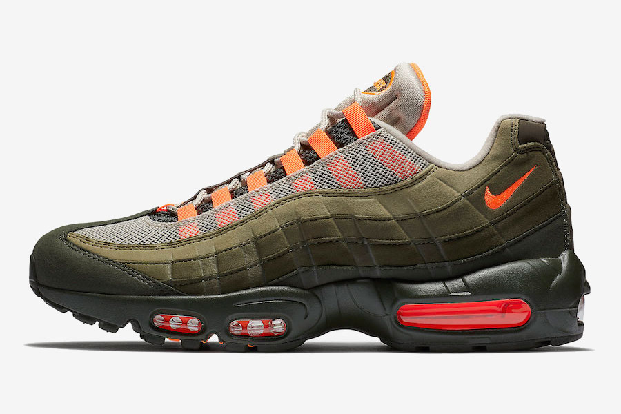 Nike Air Max 95 Neutral Olive Total Orange (AT2865-200) - Left