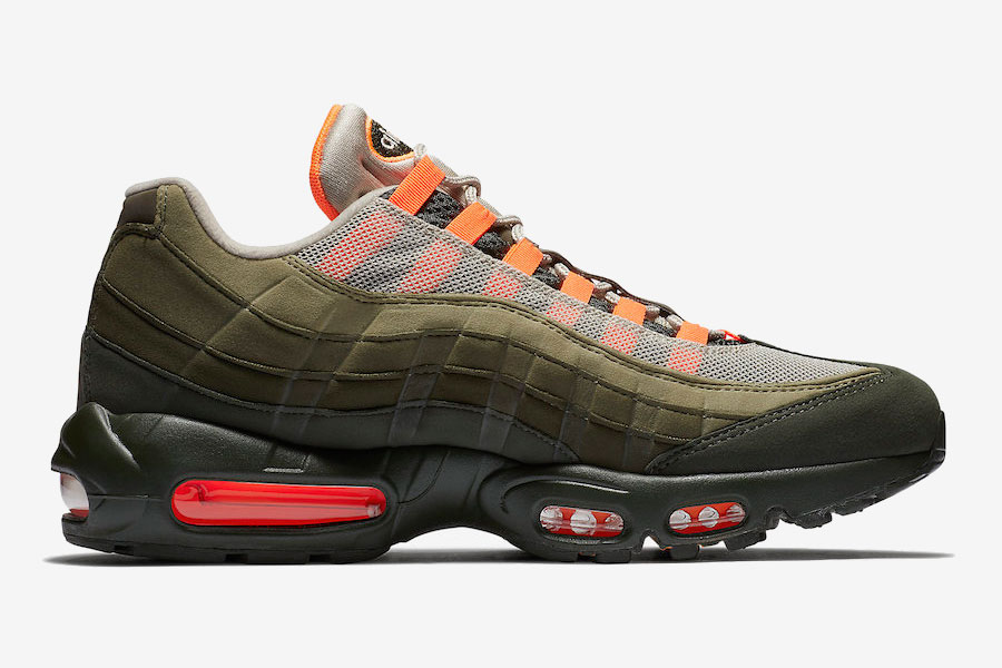 Nike Air Max 95 Neutral Olive Total Orange (AT2865-200) - Right