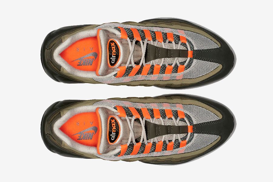 Nike Air Max 95 Neutral Olive Total Orange (AT2865-200) - Top