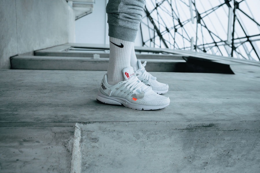 OFF-WHITE x Nike Air Presto 2018 Polar Opposites White (AA3830-100) - On feet (Side)
