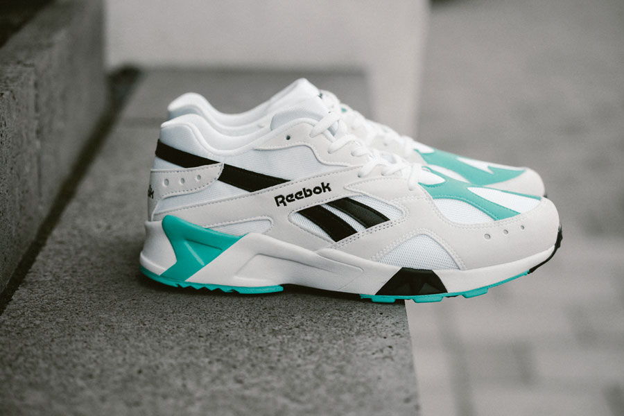 Reebok Aztrek OG White Solid Teal Black (CN7067) - Side