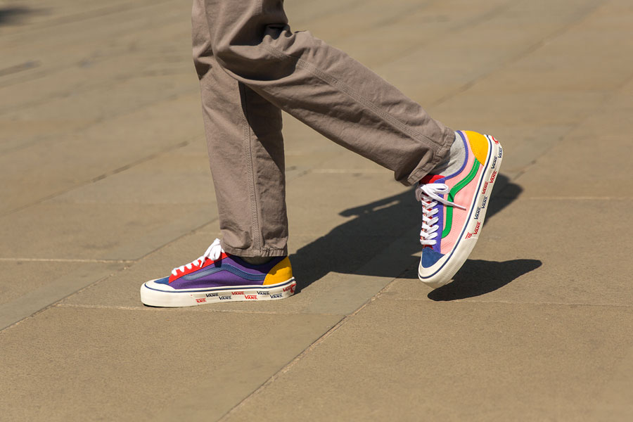 size x VANS Style 36 Patchwork - On feet