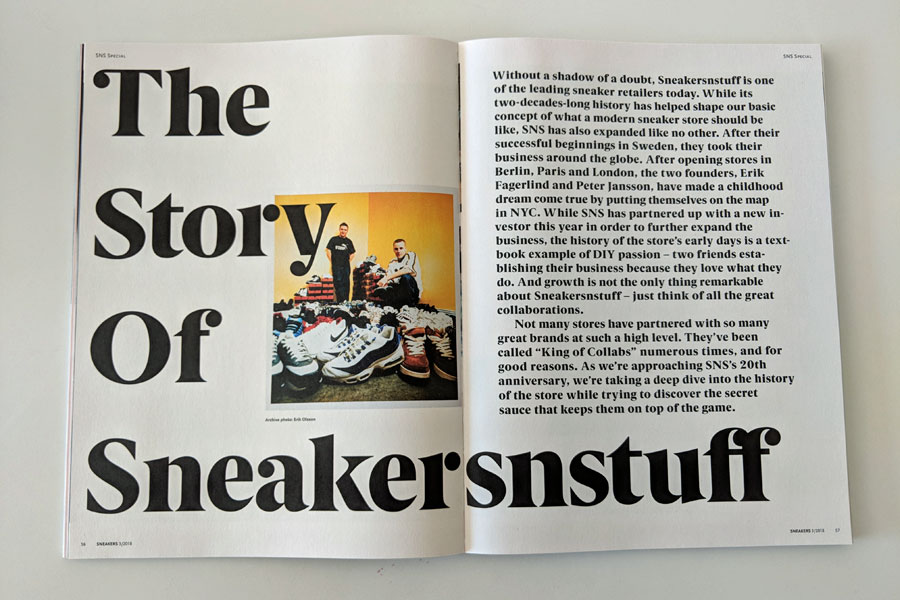 Sneakers Mag July 2018 (Issue 39) - The Story of Sneakersnstuff