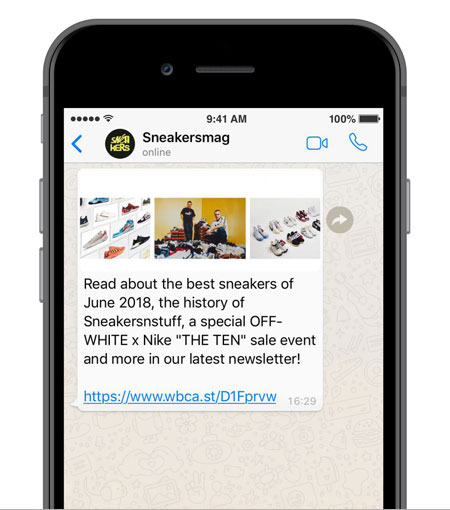 Sneakers Magazine - WhatsApp Newsletter (Screen) - Cut New