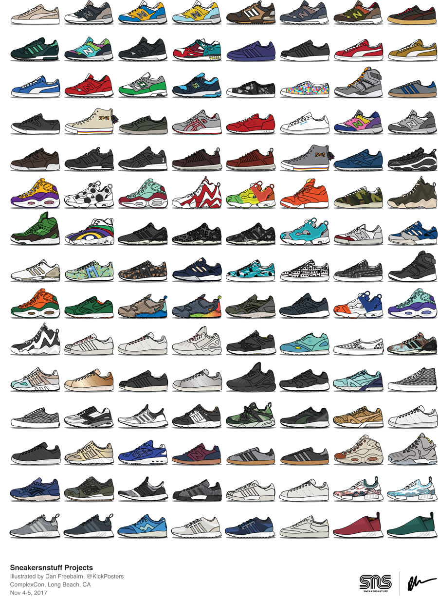 The History of Sneakersnstuff - Collaborations (KickPosters)