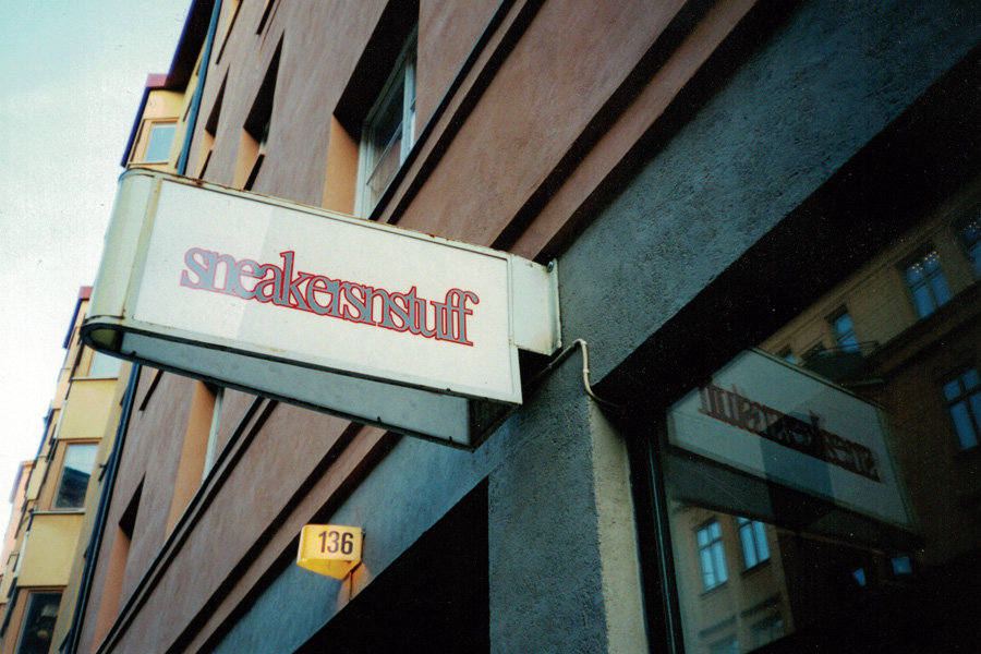 The History of Sneakersnstuff - Stockholm (Store Sign)