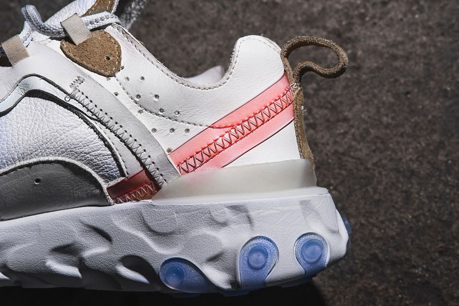 The Shoe Surgeon x Nike React Element 87 Leather Custom - Heel