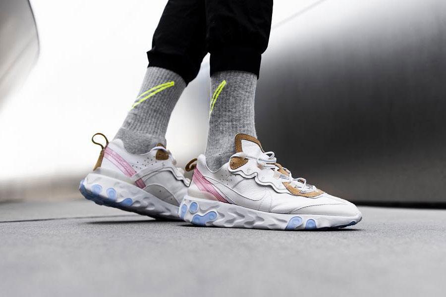 The Shoe Surgeon x Nike React Element 87 Leather Custom - On feet