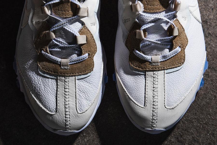 The Shoe Surgeon x Nike React Element 87 Leather Custom - Toebox