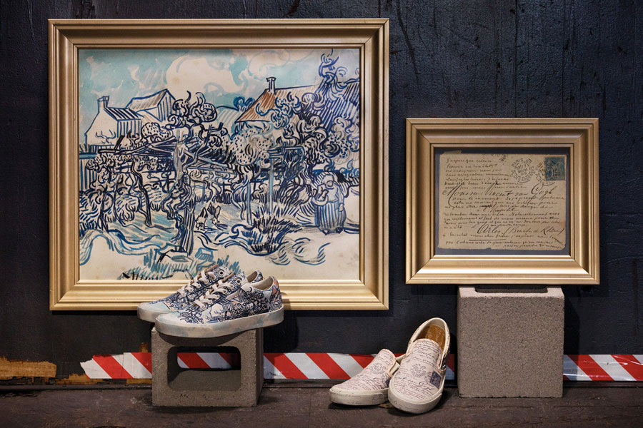 Van Gogh Museum x VANS Collection - Old Vineyard with Peasant Woman (Classic Slip-On)