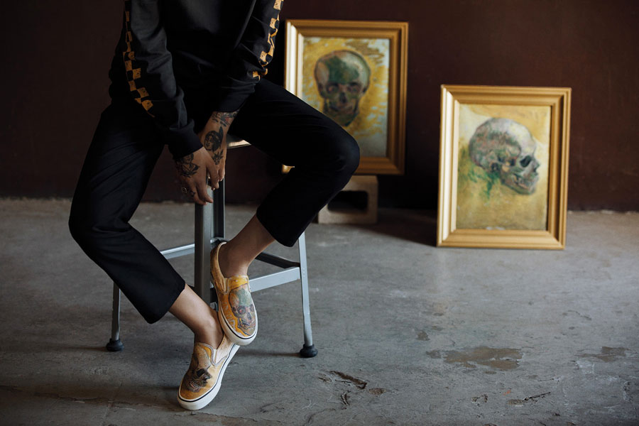 Van Gogh Museum x VANS Collection - Skull (Classic Slip-On)