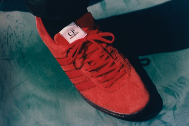 CP Company x adidas Samba Red (BD7959) - On feet