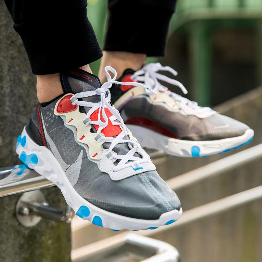Nike React Element 87 Dark Grey (AQ1090-003) - On feet