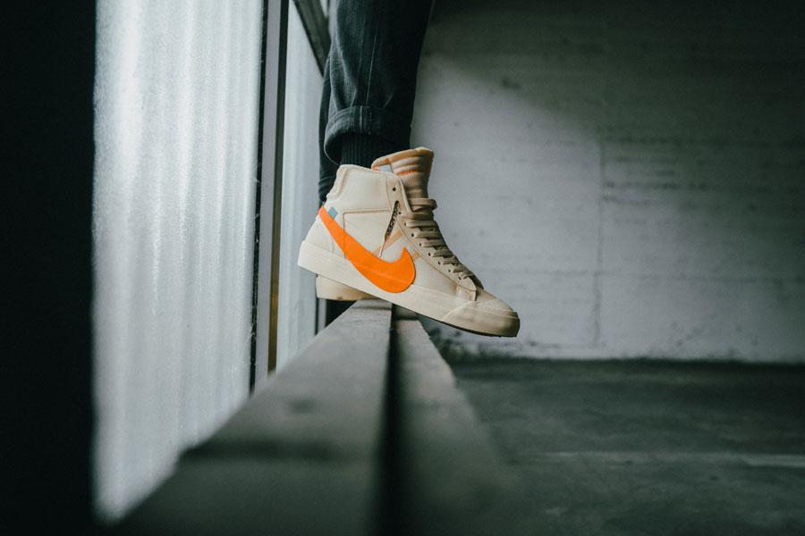 OFF-WHITE x Nike Blazer All Hallows Eve (AA3832-700) - On feet 2