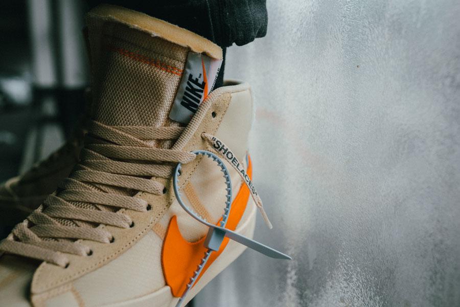 OFF-WHITE x Nike Blazer All Hallows Eve (AA3832-700) - On feet 3