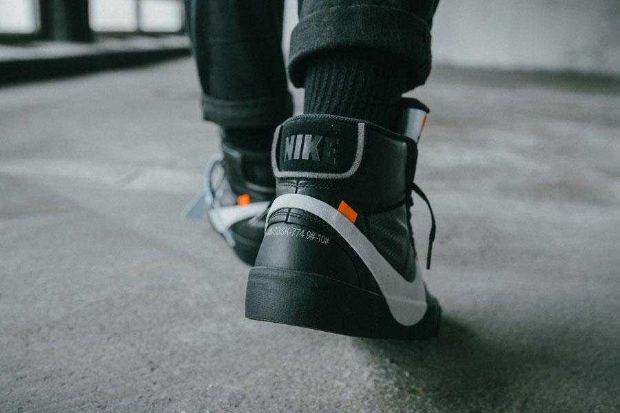 OFF-WHITE x Nike Blazer Grim Reepers (AA3832-001) - On feet 3