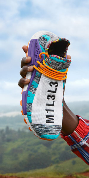 Pharrell Williams x adidas Solarhu Collection - Afro Hu NMD Hi Res Aqua Core Black Purple (BB9528)
