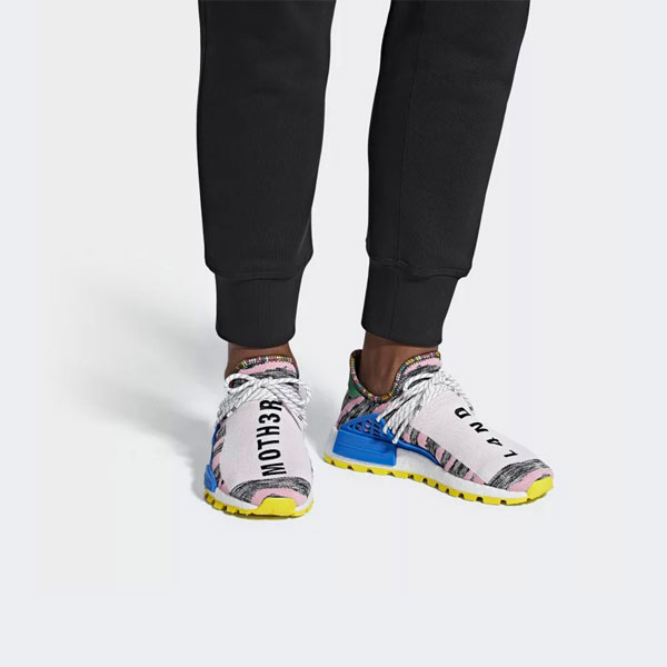 Pharrell Williams x adidas Solarhu Collection - Afro Hu NMD Red Core Black Bright Blue (BB9531)