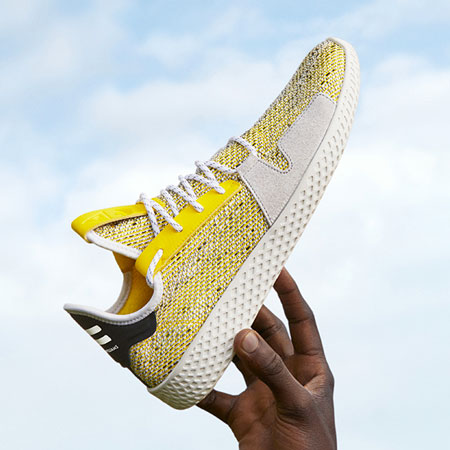 Pharrell Williams x adidas Solarhu Collection - Afro Tennis Hu V2 Yellow (BB9543)