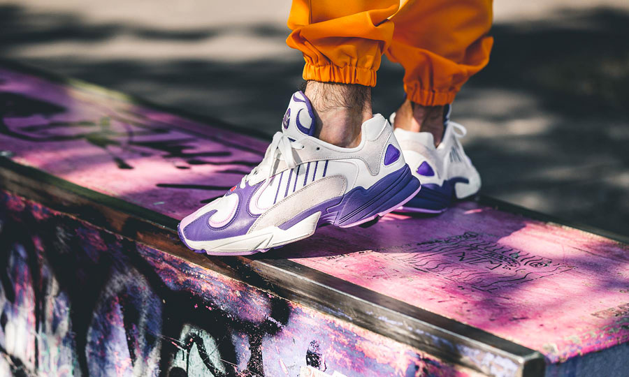 designer fashion b9bb5 43aed Dragon Ball Z x adidas Yung 1 Frieza (D97048) - On feet 2