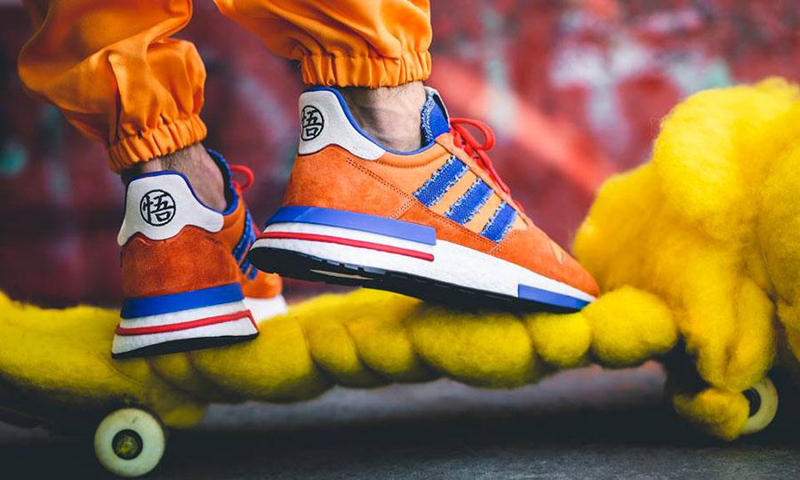 separation shoes 9e8ea 44de6 Dragon Ball Z x adidas ZX 500 RM Goku (D97046) - On feet 3