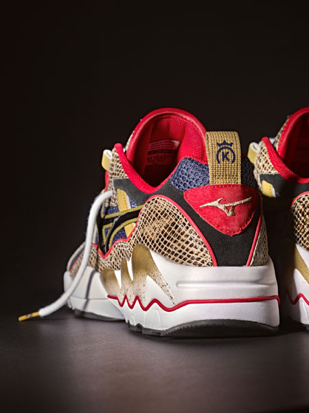 24 Kilates x Mizuno Wave Rider 1 King Kobra - Heel