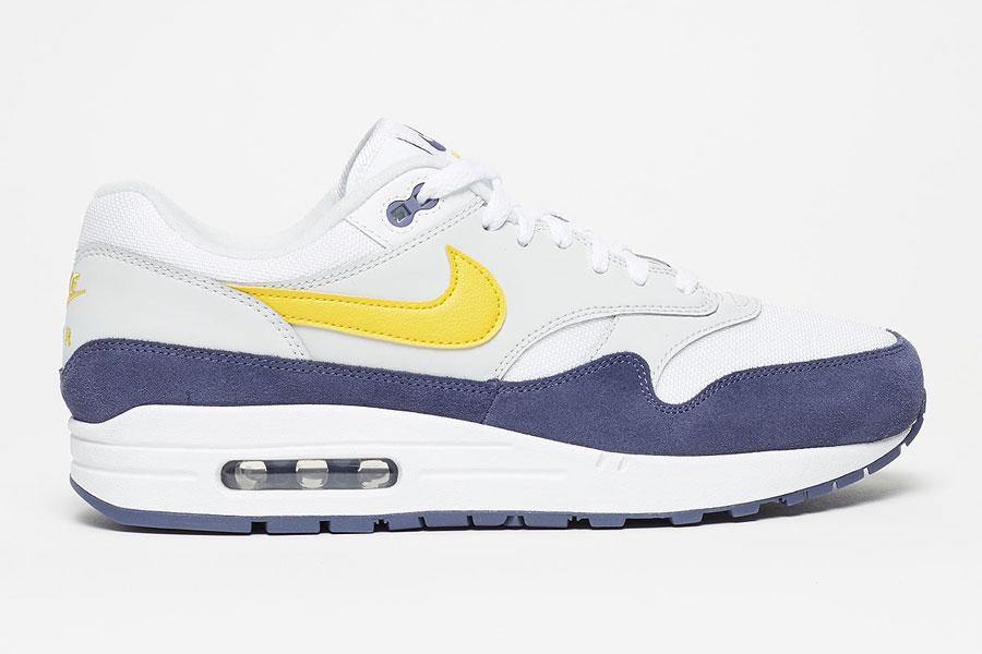 Best Nike Air Max 1 White Tour Yellow Blue