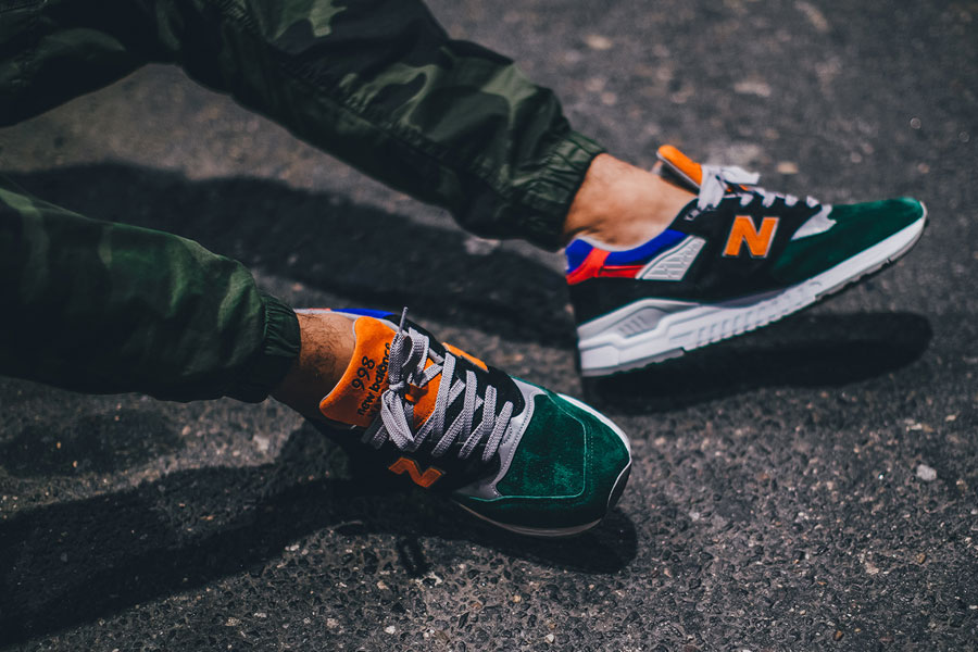 DTLR Villa x New Balance 998 SMU Four 4 Four - On feet 1