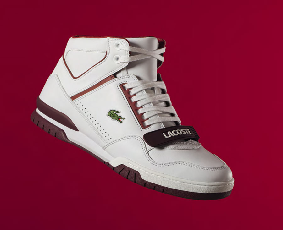 Lacoste Missouri M85 (White / Burgundy / Dark Red)