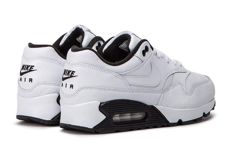 Nike Air Max 90-1 White Black (AJ7695-106) - Heel