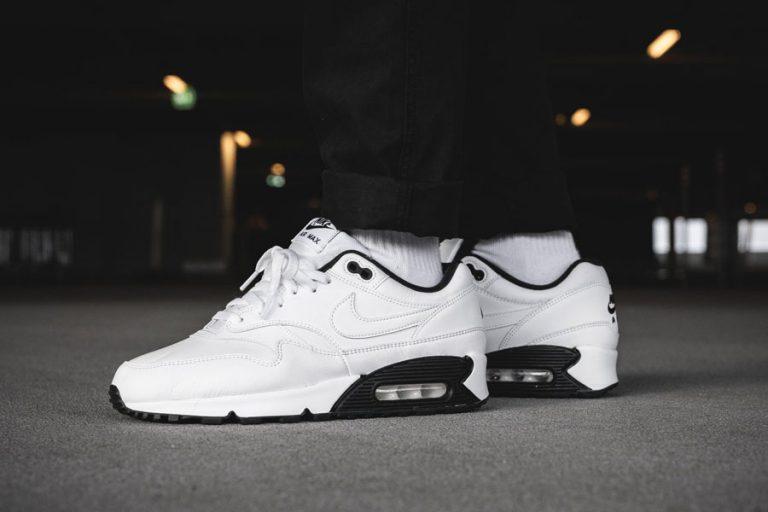 Nike Air Max 90-1 White Black (AJ7695-106) - On feet
