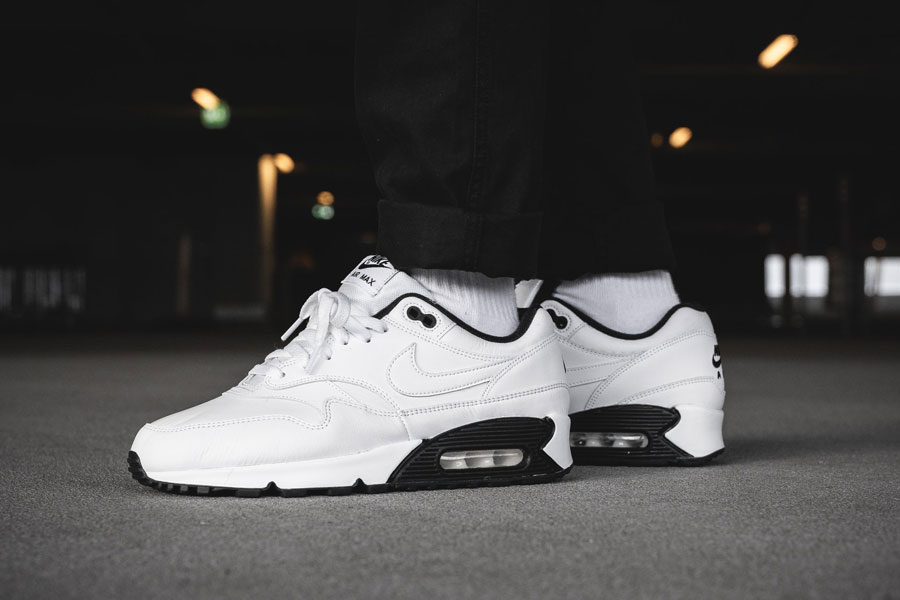 Nike Air Max 90-1 White Black (AJ7695-106) - On feet