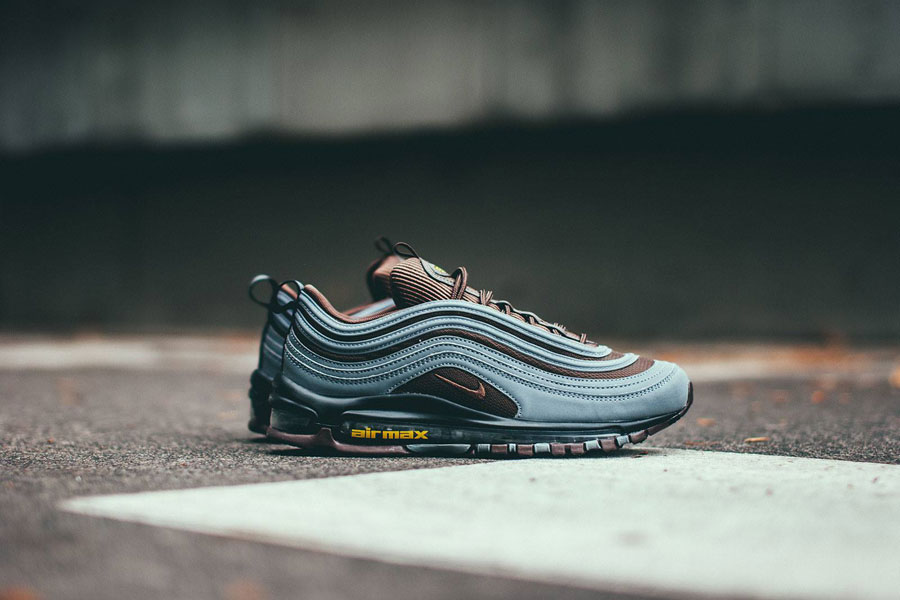 f4c2984a418d Nike Air Max 97 Premium Cool Grey Baroque Brown University Gold (AV7025-001)
