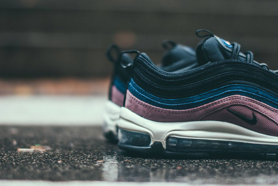 Nike Air Max 97 Premium Smokey Mauve Black Midnight Navy Sail (312834-204) - Heel