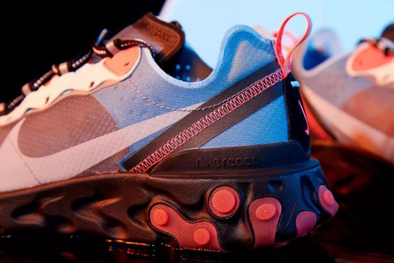 Nike React Element 87 Solar Red (AQ1090-006) - Heel