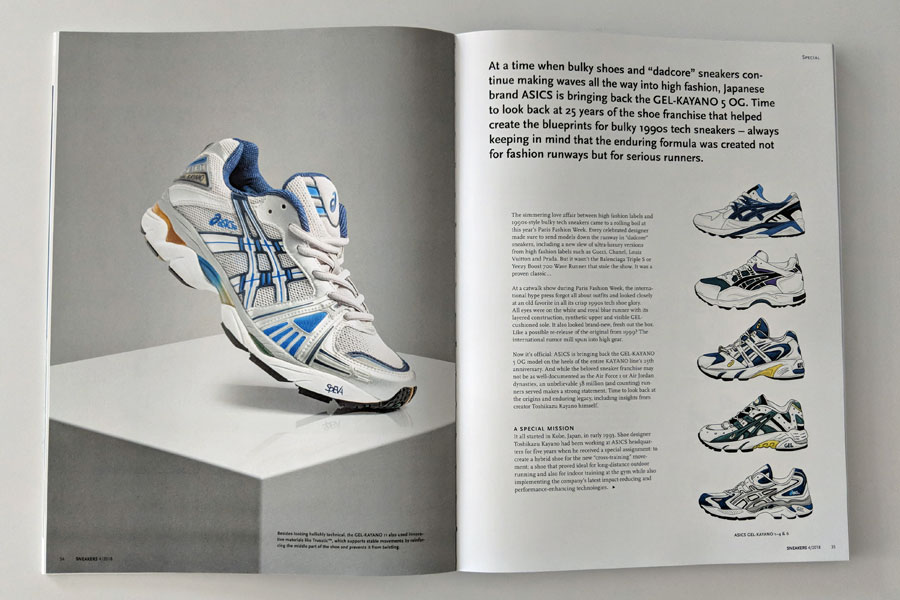 Sneakers Mag October 2018 - Issue 40 (GEL-Kayano)