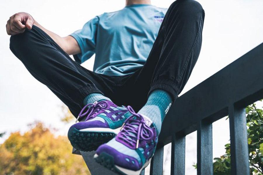 YMC x ASICS GEL-LYTE XT You Must Create (Gris Blue Royal Purple) 2