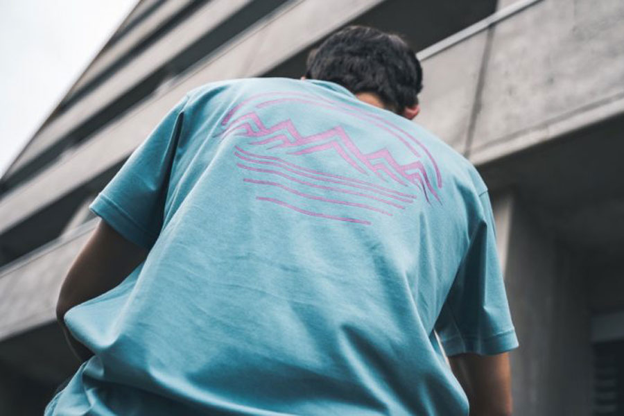 YMC x ASICS You Must Create - T-Shirt (Gris Blue) 2